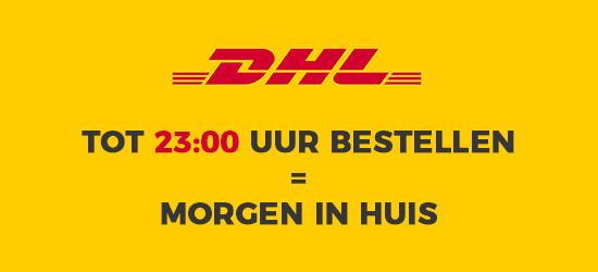 DHL. Tot 23:00 uur bestellen = morgen in huis